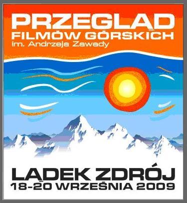 Przegląd filmów górskich - zdjęcie z blog podróżniczy 4challenge- Lądek Zdrój 2009 plakat -