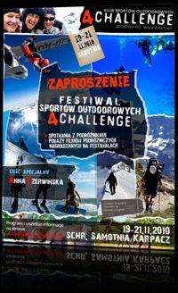 Zaproszenie na Festival Sportów Outdorowych 4challenge - zdjęcie z blog podróżniczy 4challenge