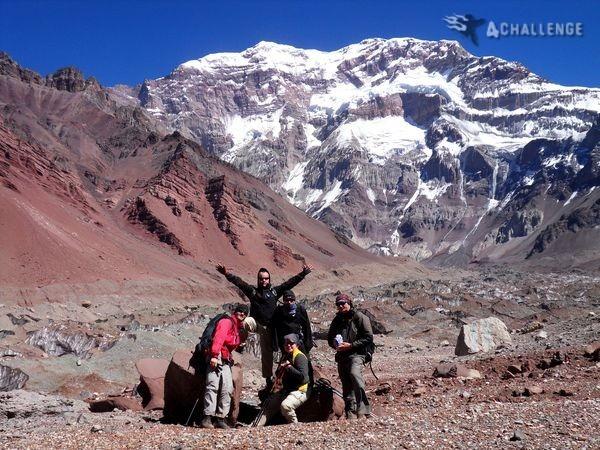 4challenge na tle Aconcagua - zdjęcie z bloga 4challenge