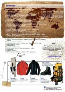 Boliwia trekking wyprawa ekwipunek