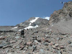 Wyprawa na Kazbek 5047 m - widać podejście szczytowe