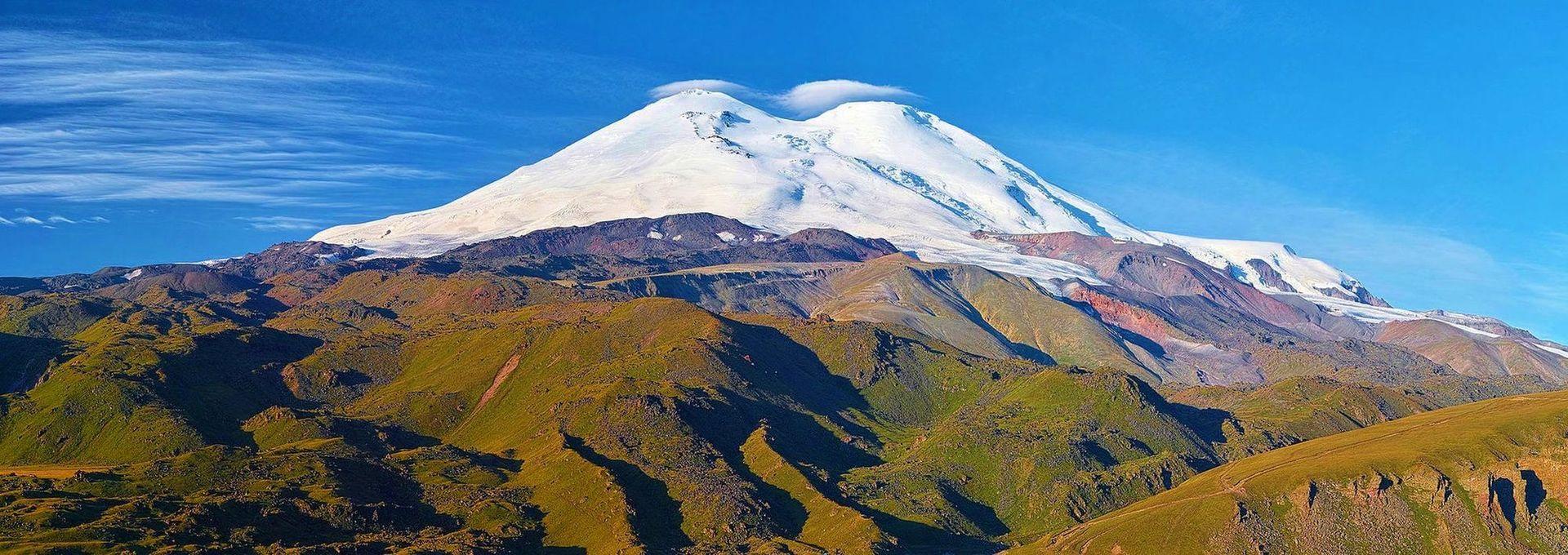 Elbrus - najwyższy szczyt Europy -olbrzymy -kaukazu - zdobycie