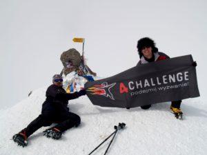 Wyprawa na Elbrus 2009 - grupa na szczycie Elbrusa 5642 m