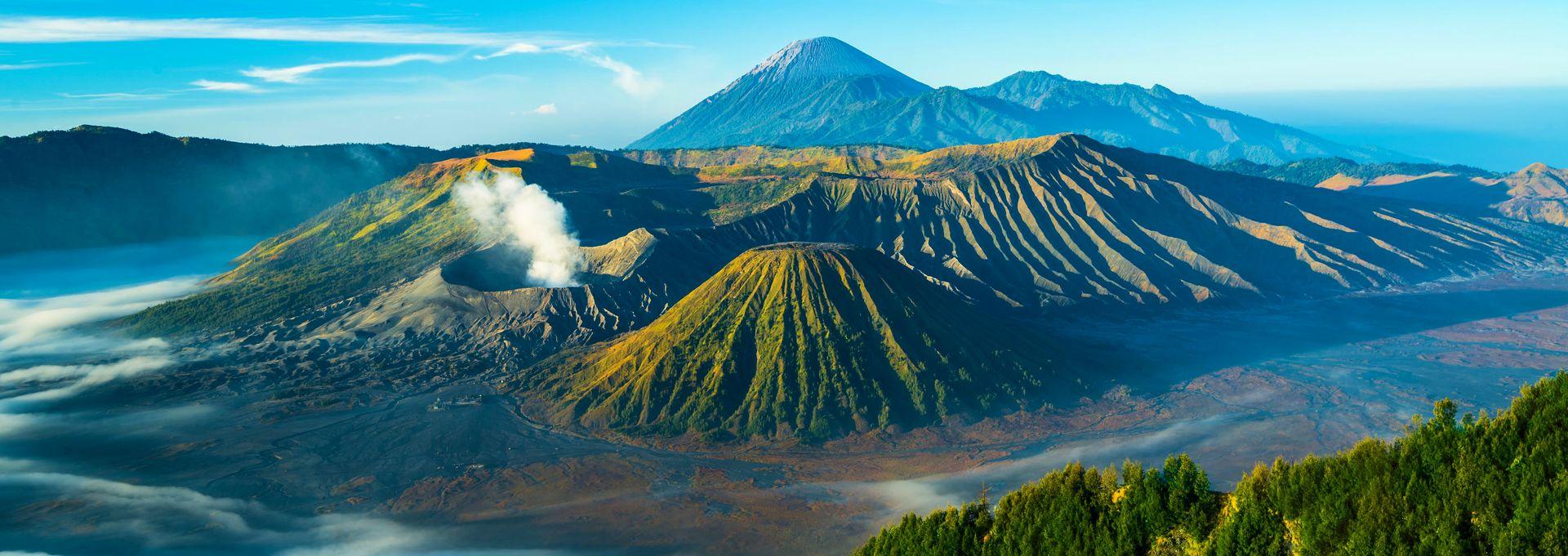Indonezja - Widok na wulkan Bromo